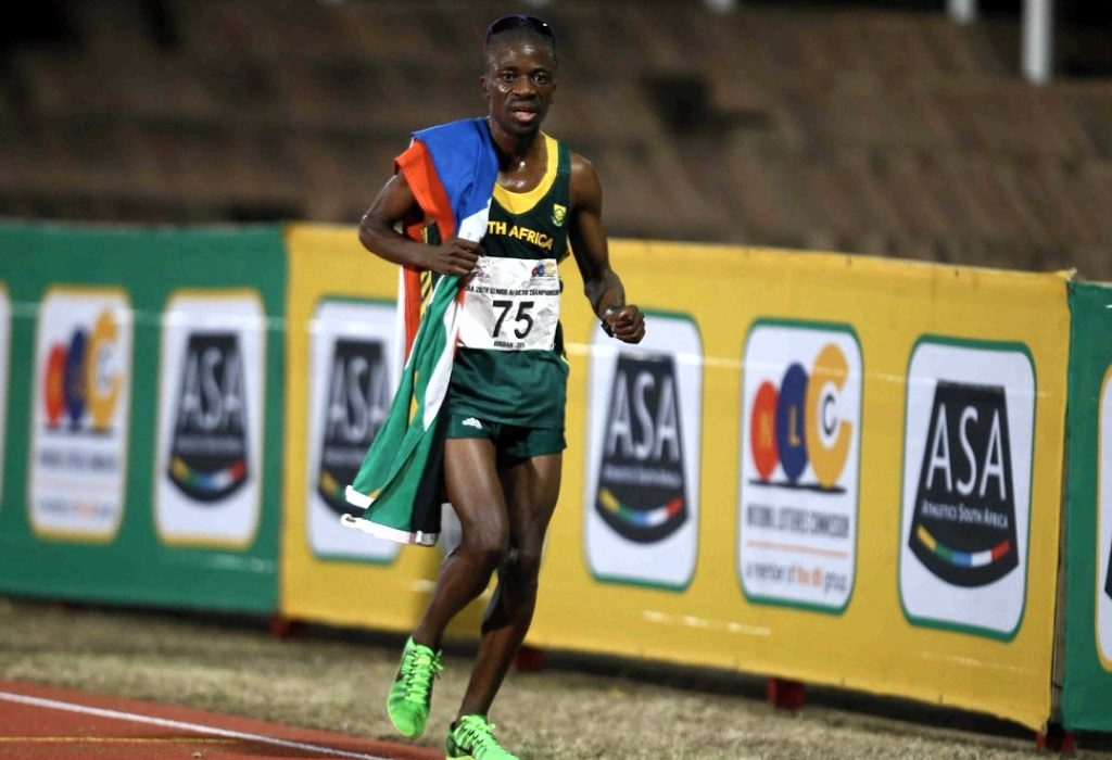 Stephen Mokoka wins men's 10000m at the 2016 African Senior Championships in Durban