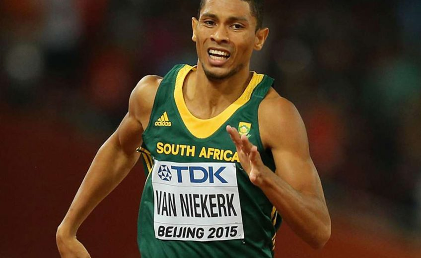 Wayde van Niekerk of South Africa at the 2015 IAAF World Championships in Beijing, China / Photo credit: Getty Images for the IAAF