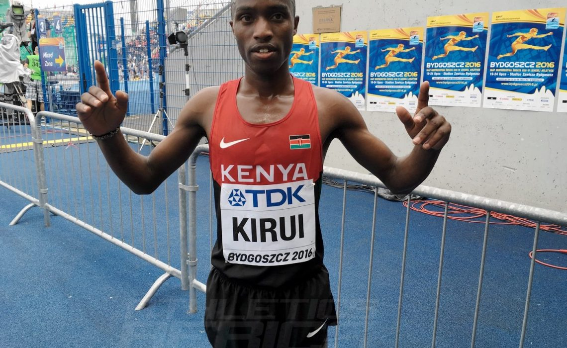 Amos Kirui kept Kenya's perfect U20 World Championships streak in the 3000m Steeplechase going in Bydgoszcz 2016 / Photo credit: Yomi Omogbeja