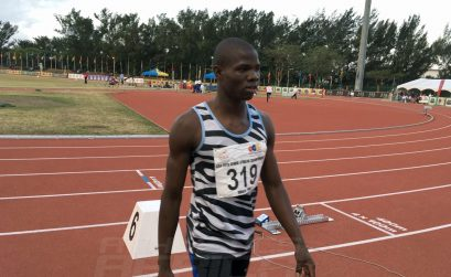 Botswana's Baboloki Thebe won the men's 400m Gold medal at the 20th African Senior Championships – Durban 2016 / Photo: Yomi Omogbeja