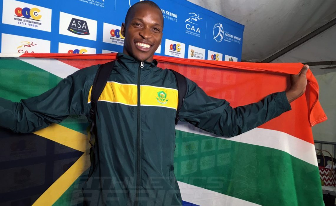 South Africa Luvo Manyonga wins Long Jump Silver medal at the 20th African Senior Championships – Durban 2016 / Photo: Yomi Omogbeja