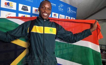 South Africa Luvo Manyonga wins Long Jump Silver medal at the 20th African Senior Championships – Durban 2016 / Photo: Yomi Omogbeja