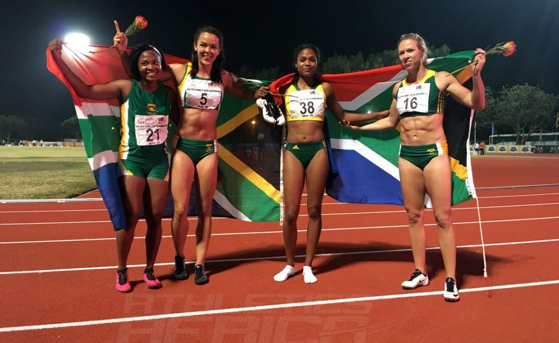 Team South Africa - women's 4x400m relay at Durban 2016 / Photo credit: Yomi Omogbeja