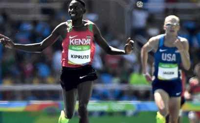 Kenya's Conseslus Kipruto won the men's 3000m SC gold ahead of USA's Evan Jager on Day 6 of Athletics competition at Rio 2016 / Photo credit: Getty Images
