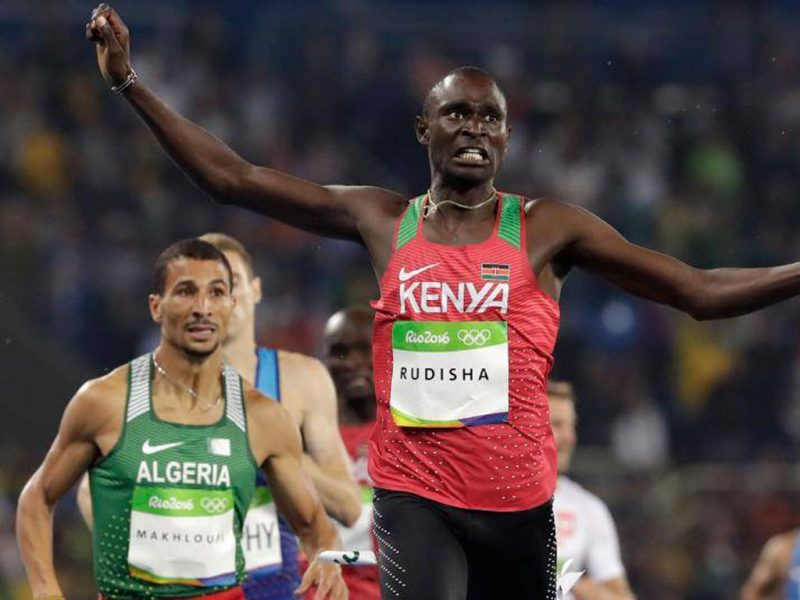 David Rudisha of Kenya won his second 800m Olympic title in a row (Photo credit: Getty Images)