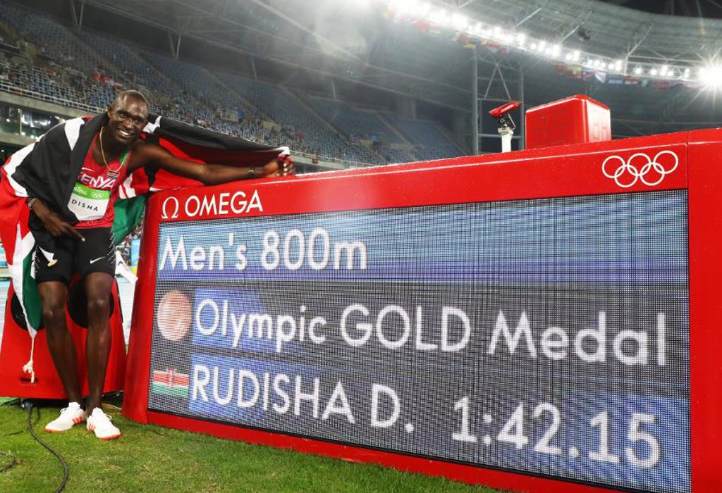 Kenya's David Rudisha won his second Olympic men's 800m title in a row (Photo: Getty Images/ Alexander Hassenstein)