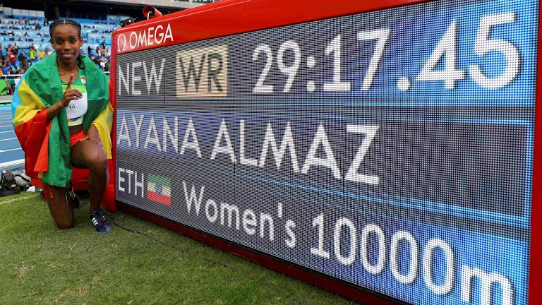 Ethiopia's Almaz Ayana smashed the world record to win the 10,000m at the Rio 2016 Olympic Games / Photo credit: Getty Images for the IAAF