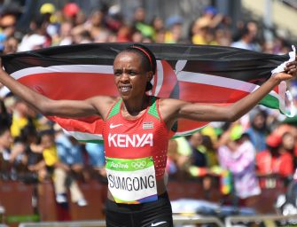 Rio 2016: Sumgong claims first Olympic marathon gold for Kenya