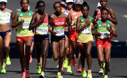 African athletes during the women's marathon at Rio 2016 Olympics / Photo credit: Norman Katende