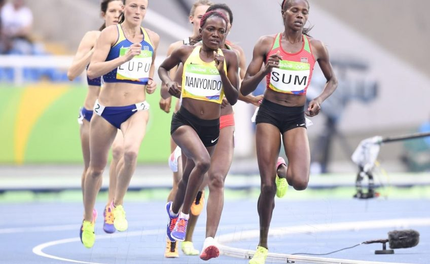 Eunice Sum of Kenya during the women's 800m Heats on day 6 of Athletics competition at the Rio 2016 Olympics / Photo credit: Norman Katende