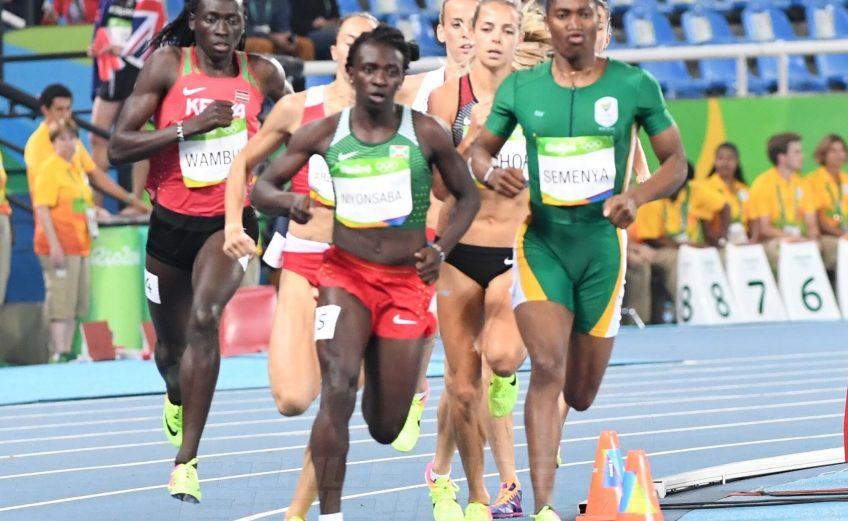 Caster Semenya, Francine Niyonsaba and Margaret Wambui during the women's 800m final at the Rio Olympics on Saturday night / Photo credit: Norman Katende