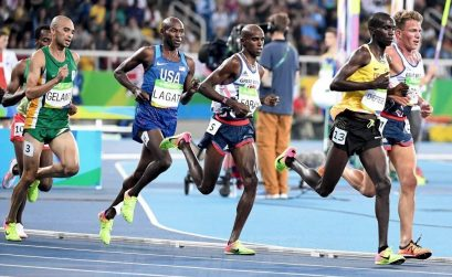 Elroy Gelant of South Africa during the men's 5000m Final on day 9 of Athletics competition at the Rio 2016 Olympics / Photo credit: Norman Katende
