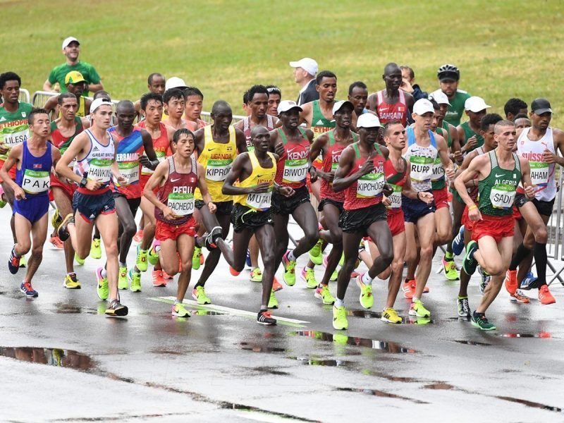 Men's marathoners on the final day of competition at the Rio 2016 Olympics / Photo Credit: Norman Katende