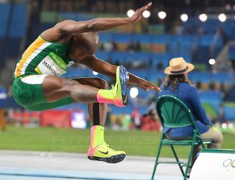 Manyonga lands long jump silver at Rio 2016