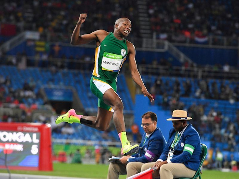 Luvo Manyonga of South Africa competing in men's long jump at Rio 2016 / Photo credit: Roger Sedres