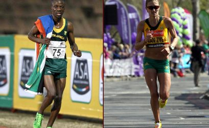 South Africa's Stephen Mokoka and Irvette van Zyl secured national men's and women's titles at the ASA Half-Marathon Championships in Port Elizabeth
