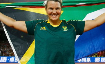 Sunette Viljoen of South Africa won a silver medal in women's Javelin on day 7 at the Rio 2016 Olympics / Photo credit: Roger Sedres