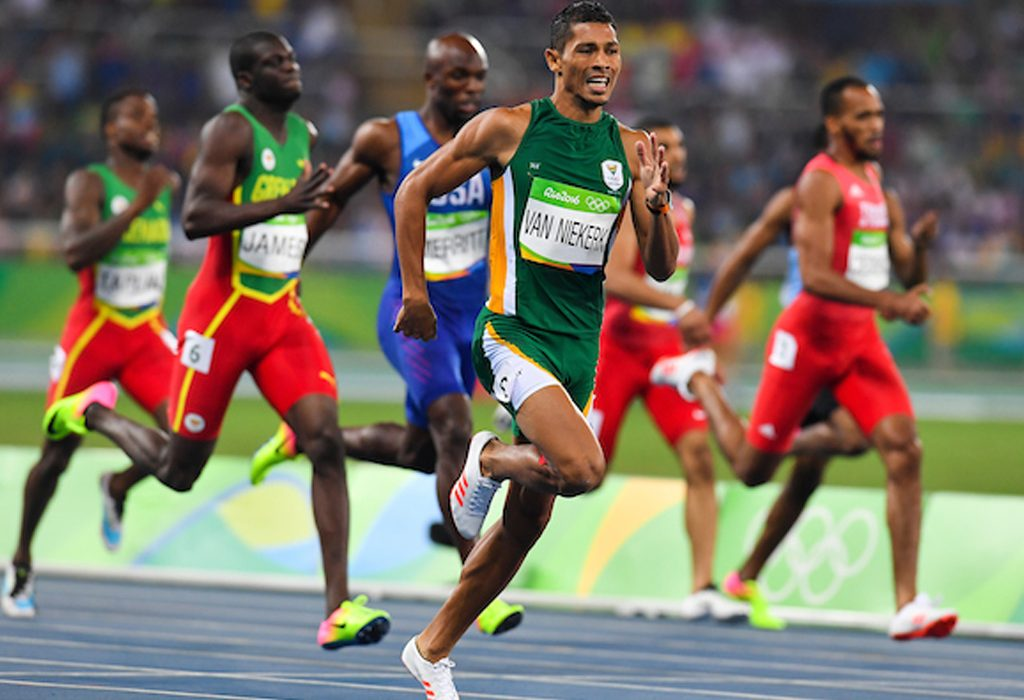 Wayde van Niekerk of South Africa during the men's 400m world record race in Rio 2016 / Photo Credit: Roger Sedres