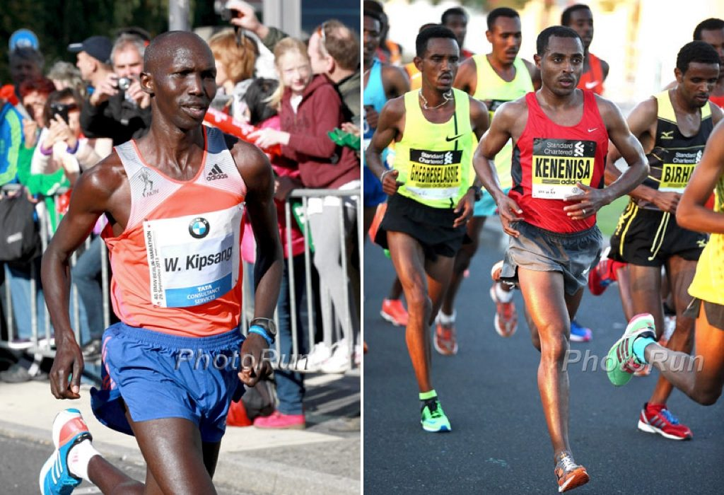 Wilson Kipsang and Kenenisa Bekele / Photo credit: photorun.net
