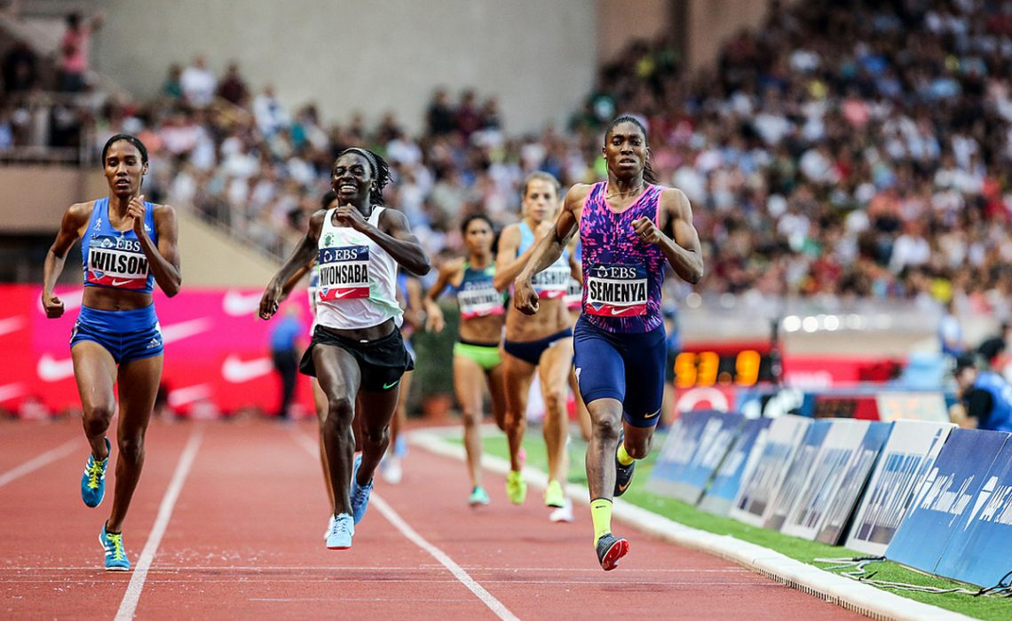 Caster Semenya (RSA) set a Diamond League Record, World Lead and Meeting Record of 1:55.27 in the Women's 800m at the 2017 Herculis EBS in Monaco Photo Credit: Philippe Fitte / IAAF