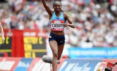 Hellen Obiri at the London Diamond League / Photo IDL/Errol Anderson