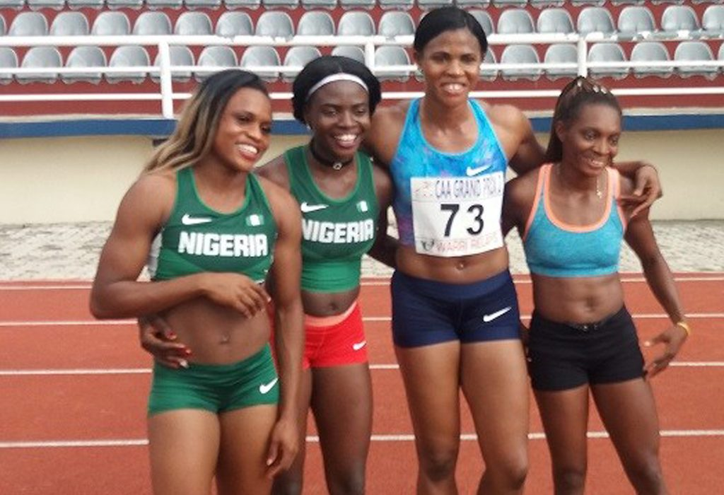 Blessing Okagbare at the 2017 Warri Relays in Ozoro, Nigeria