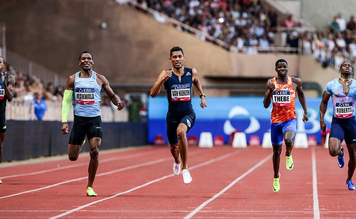 Wayde van Niekerk (RSA) set a Meeting Record of 43.73 in the Men's 400m at the 2017 Herculis EBS in Monaco Photo Credit: Philippe Fitte / IAAF