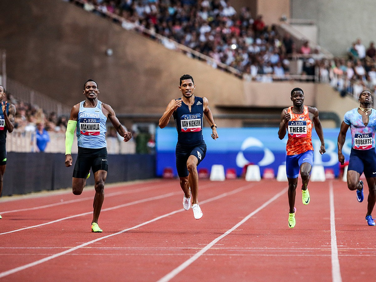 Wayde van Niekerk (RSA) set a Meeting Record of 43.73 in the Men's 400m at the 2017 Herculis EBS in Monaco Photo Credit: Philippe Fitte / IAAF