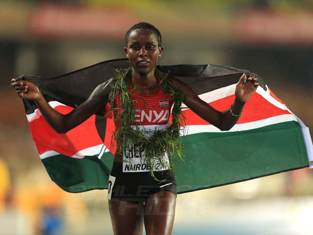 Kenya's Emmaculate Chepkirui after the 3000m at the IAAF World U18 Championships Nairobi 2017 / Photo Credit: Getty Images for the IAAF