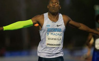 Isaac Makwala after winning in Madrid / Photo credit: Organisers / RFEO