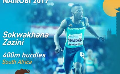 South African Sokwakhana Zazini at Nairobi 2017 / Photo Credit: IAAF