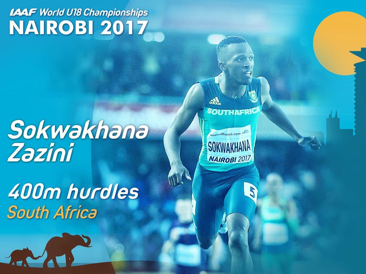 South African Sokwakhana Zazini at Nairobi 2017 / Photo Credit: IAAF