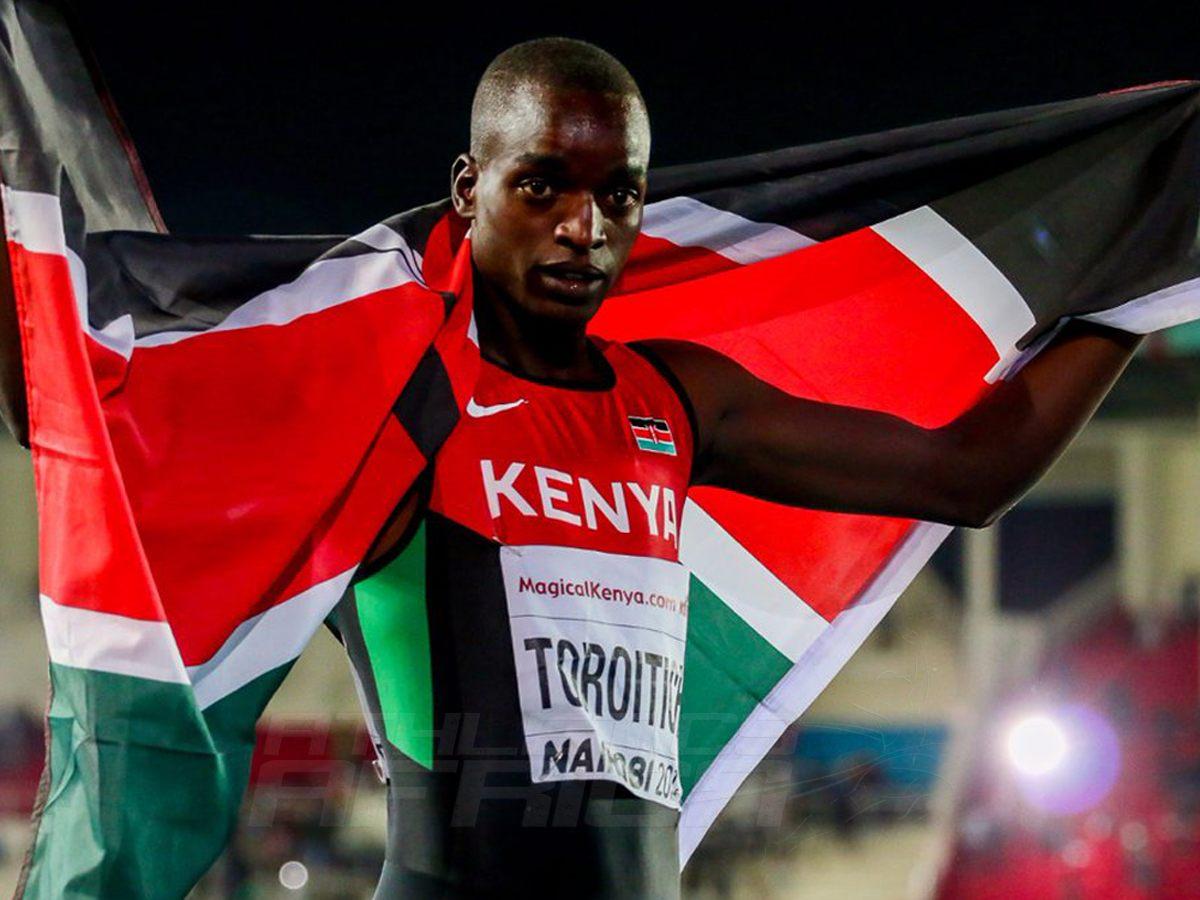 Kenya's Toroitich at the IAAF World U18 Championships in Nairobi 2017 / Photo credit: IAAF