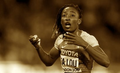Marie-Josee Ta Lou of the Ivory Coast at London 2017
