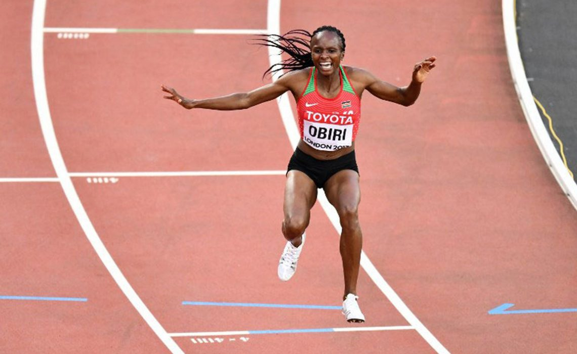 Kenya's Hellen Onsando Obiri compete during the women's 5000m athletics event at the 2017 IAAF World Championships at the London Stadium / Photo credit: AFP
