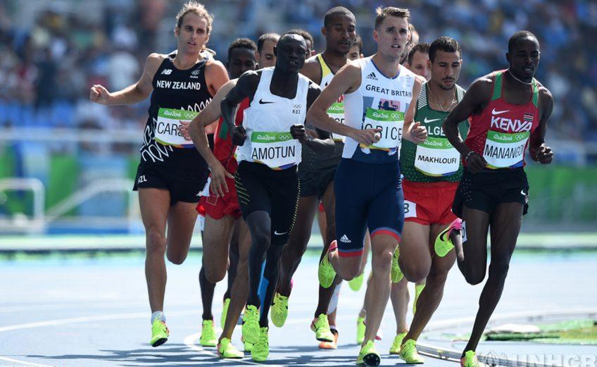 Some of the refugee athletes taking part in Ashgabat 2017.