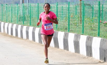 Ethiopian Ayelech Negussie has won the inaugural Sangai Run International Half Marathon / Photo: Organisers