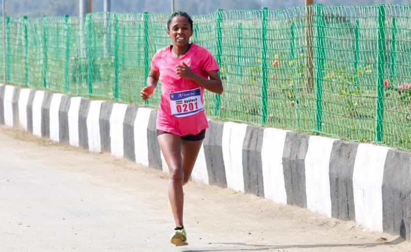 Ethiopian Ayelech Negussie has won the inaugural Sangai Run International Half Marathon / Photo: Organisers