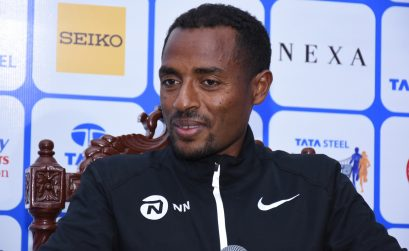 Kenenisa Bekele at the TSK25K press conference / Photo credit: Procam International