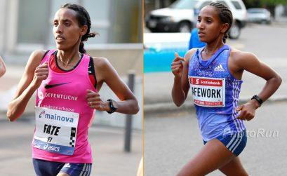 Fate Tola and Ethiopian Abebech Afework / Photo Credit: PhotoRun.Net