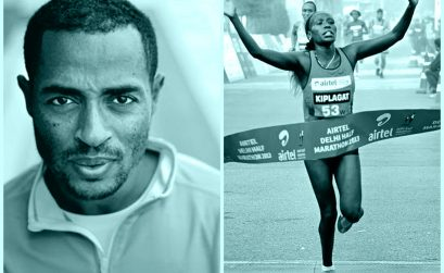 Distance running superstars Kenenisa Bekele and Florence Kiplagat / Photo credit: Procam International