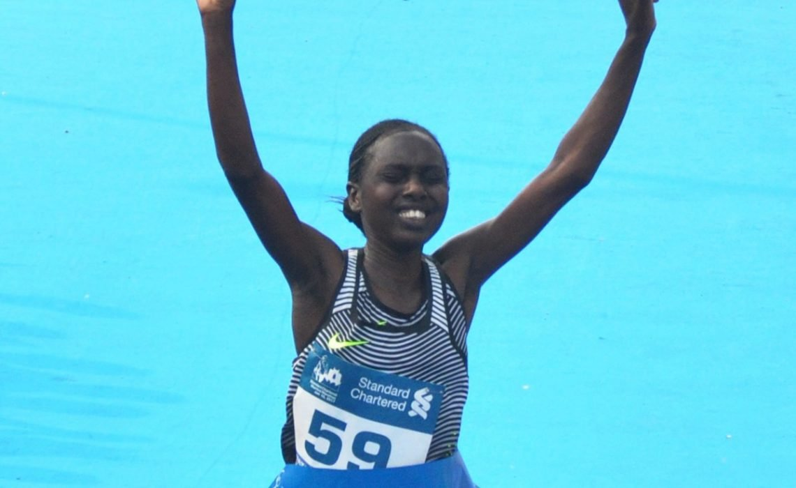 Defending women's champion Bornes Kitur, from Kenya / Photo Credit: Procam International