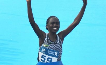 Defending women's champion Bornes Kitur, from Kenya / Photo Credit: Procam International