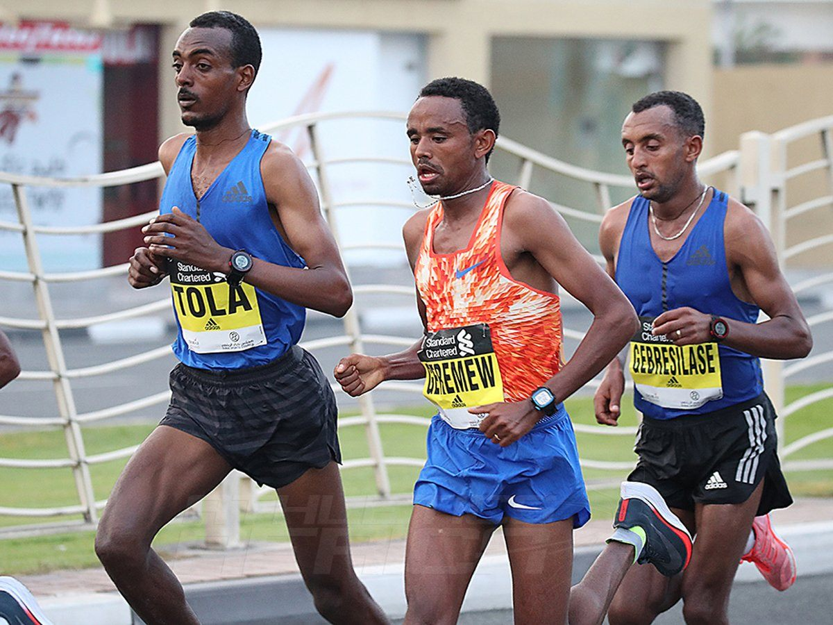 The men's race at the 2018 Standard Chartered Dubai Marathon / Photo Credit: Dubai Marathon Office
