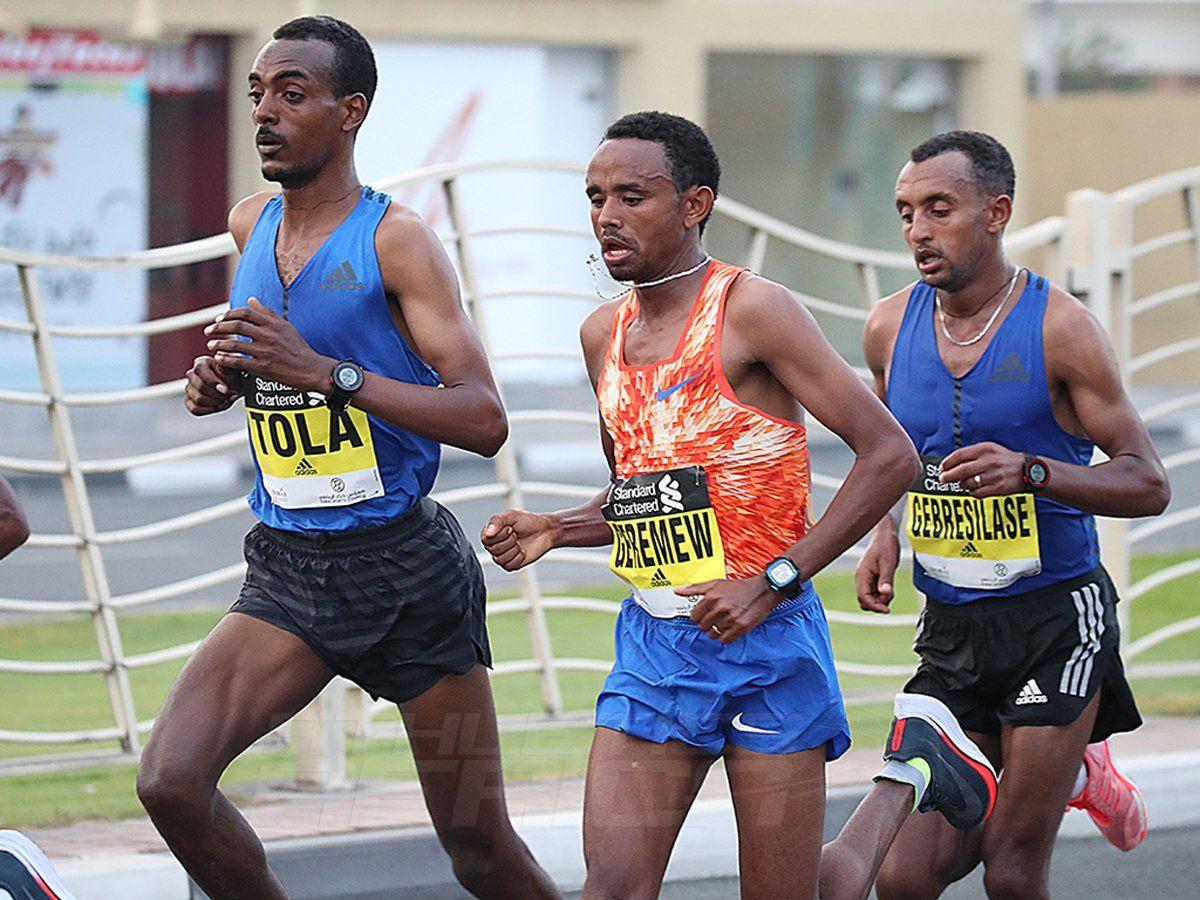 The men's race at the 2018 Standard Chartered Dubai Marathon / Photo Credit: Dubai Marathon Office