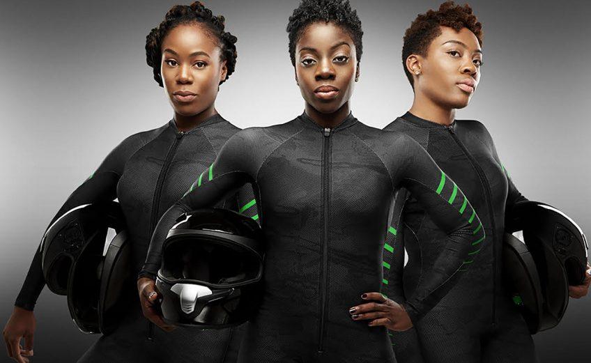 Nigerian women's bobsleigh team - Seun Adigun, Ngozi Onwumere, Akuoma Omeoga / Photo Credit: Obi Grant, BSFN