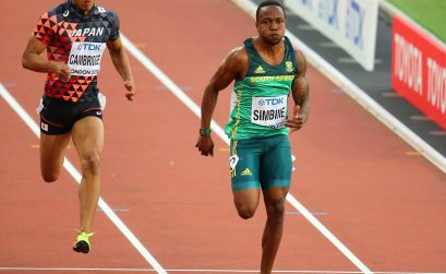Akani Simbine in action for RSA at the IAAF World Championship in London in 2017. Photo Credit: Roger Sedres
