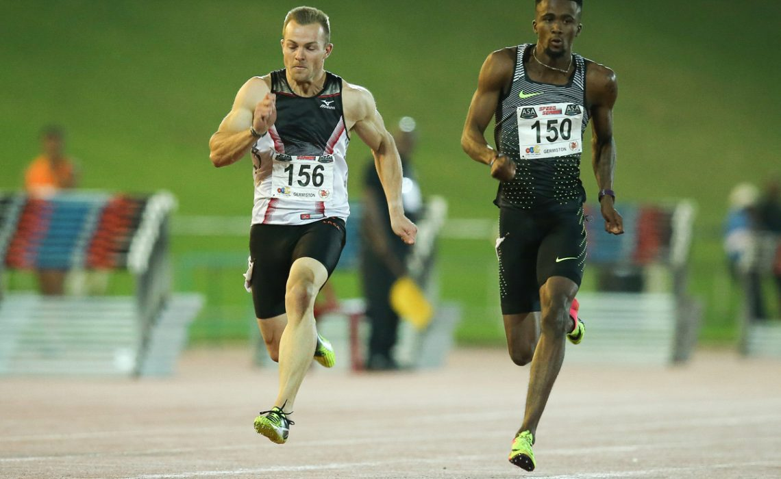 South African sprinter Anaso Jobodwana running the men's 200m / Photo Credit: Roger Sedres