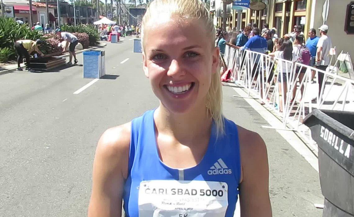 Dominique Scott-Efurd of South Africa finished 4th in the Women's Elite Race - Carlsbad 5000 2017.