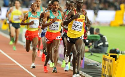Joshua Cheptegei in action. Photo Credit: Roger Sedres/Image SA